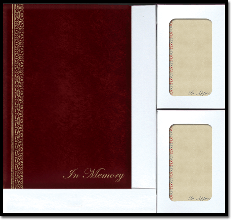 BS Passages Burgundy web - Register Books & Folders