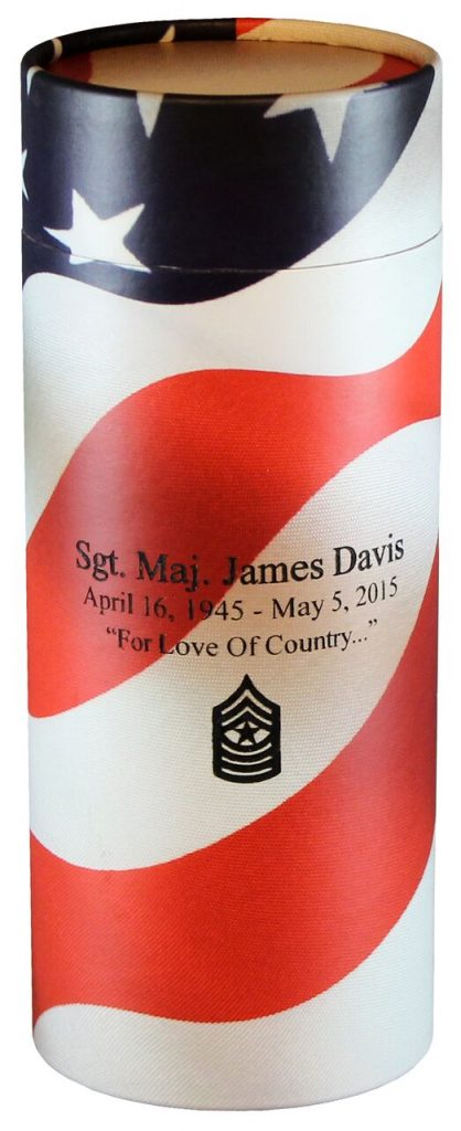 An extra touch with engraving. Perfect for a Veteran or those who died while on active duty.