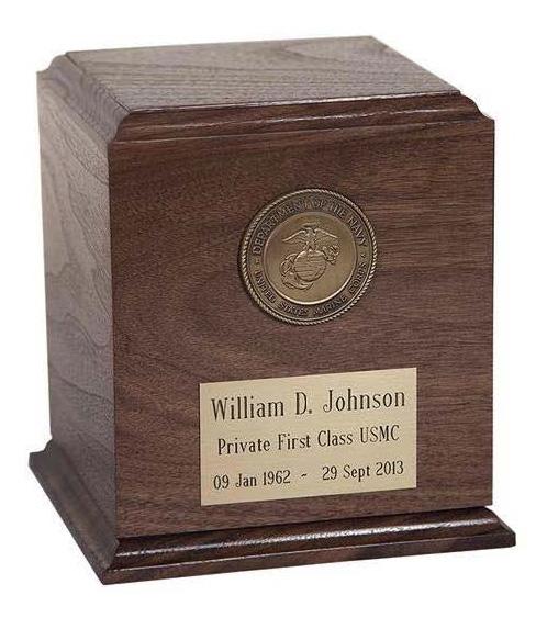 Avon Walnut Military Urn